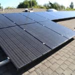 High output modules mounted on standard solar racking