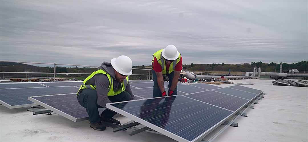 Installing Solar on Flat Roof Commercial Buildings